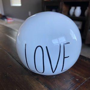 Hobby Lobby Accents - LOVE ceramic sphere decoration